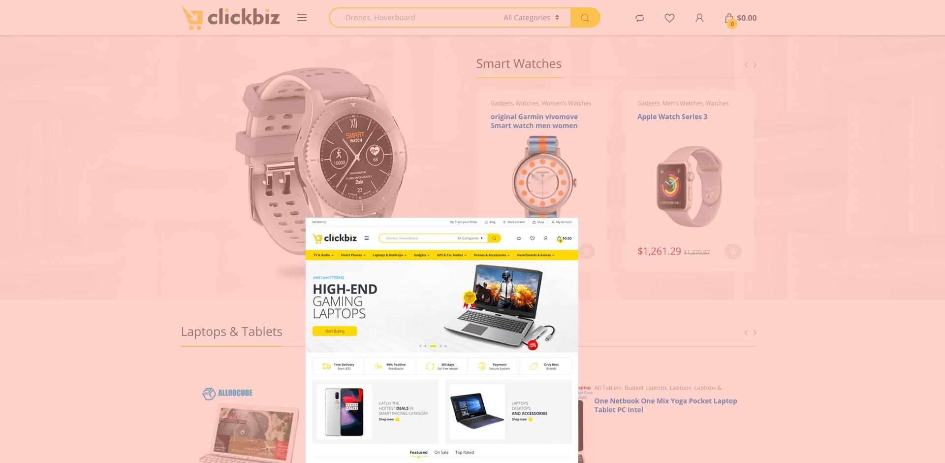 ClickBiz Portfolio Main Banner