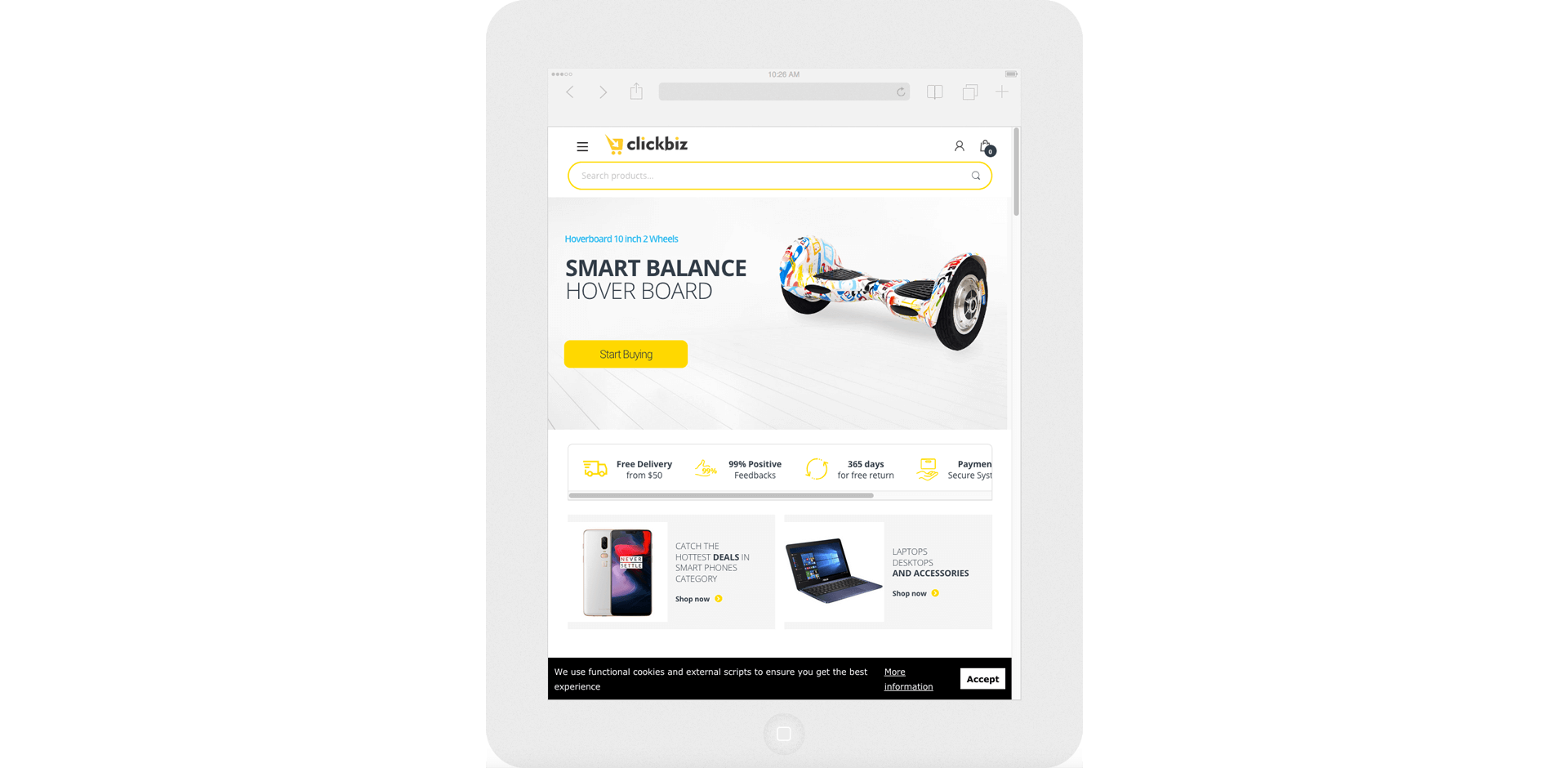 ClickBiz Tablet View